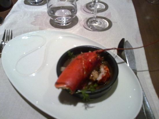 Le Clos des Capucins: Lobster stew. Dinner 28 Oct 2011