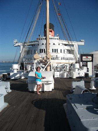 The Queen Mary: on deck