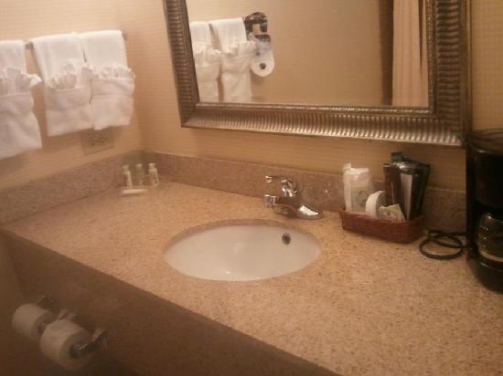 Holiday Inn Aurora North- Naperville: Bathroom sink area
