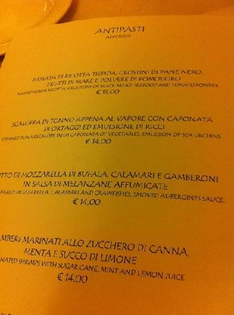 Bellotero Ristorante : menù
