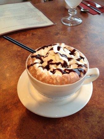 hot chocolate at Georgies