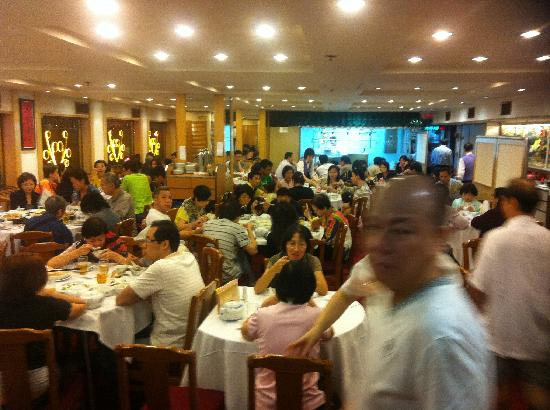 North Point Fung Shing Restaurant : Up stairs room, view as you enter ...