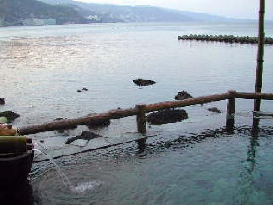 Hiraturu: 海の露天風呂 よい眺めです