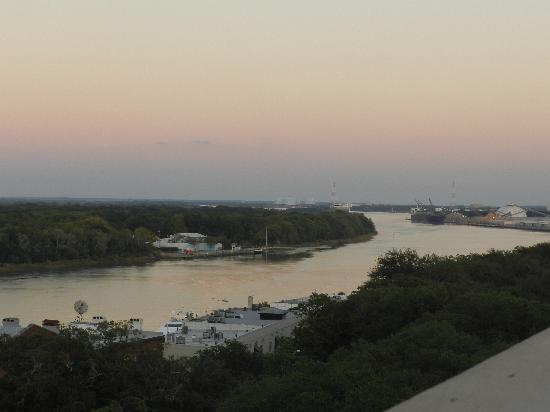 Holiday Inn Express Savannah - Historic District: Roof top view of The River
