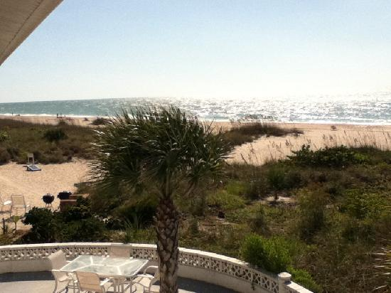 The Beachcomber: View from balcony Oct 2011
