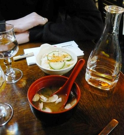 Toyotomi : the entrée: soup and salad