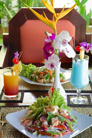 Cambodia food at the moon boutique hotel