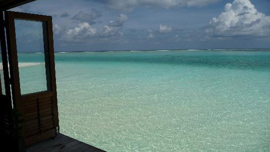 Meeru Island Resort & Spa : La vue de notre table à l'Asian Wok