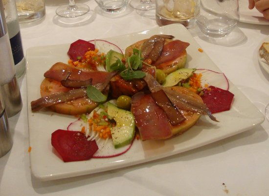 Restaurante Navarro: Exemple d'une des entrées