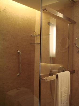 Shangri-La Hotel Kuala Lumpur: standing shower
