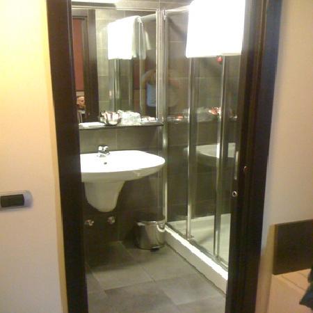 Hotel Five: small bathroom