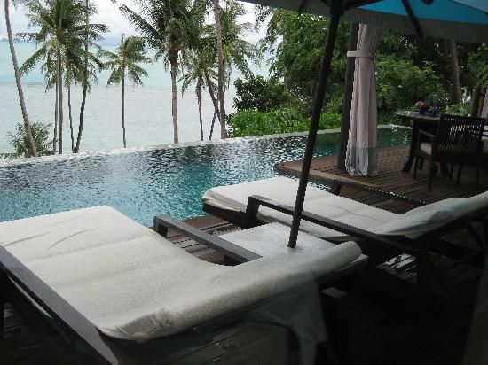 Four Seasons Resort Koh Samui Thailand: Our private pool with a beautiful view