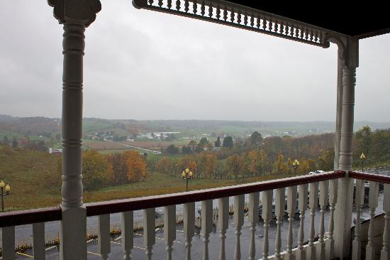 Walnut Creek, OH: view from the balcony