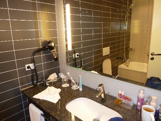 โรงแรมคราวน์ พลาซ่า โคเปนเฮเกน ทาวเวอร์: The bathroom