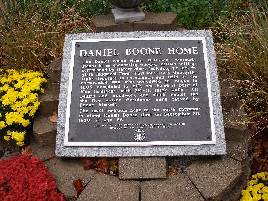 The Historic Daniel Boone Home at Lindenwood Park: Interpretive plaque