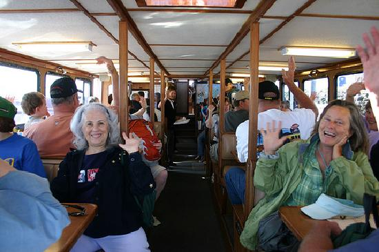 Puget Sound Express - Day Trips: Happy customers on the Glacier Spirit - our larger boat.