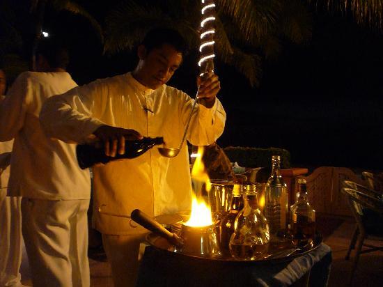 Daiquiri Dick's: flaming Mexican coffee