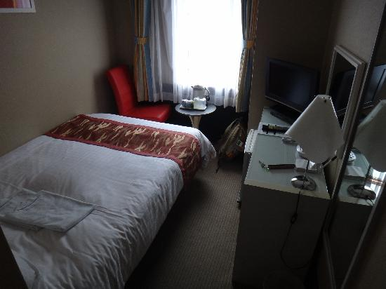 Tokyo Hotel Horidome Villa: habitación pequeña pero confortable