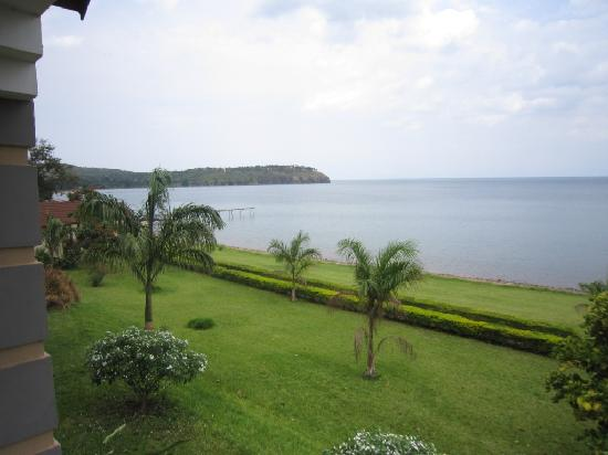 Lake Tanganyika Hotel: View from my balcony. It does not get better than this.