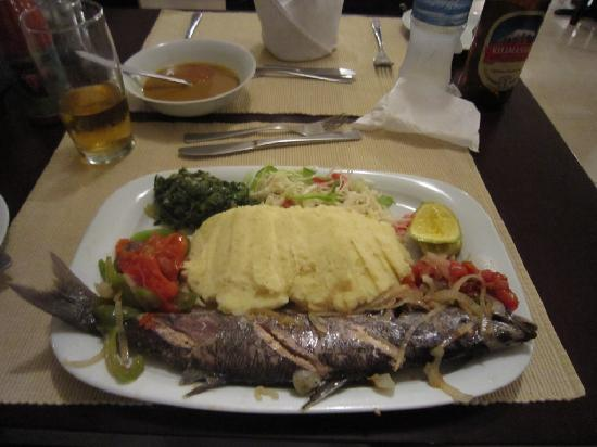 Lake Tanganyika Hotel: Fresh from the lake