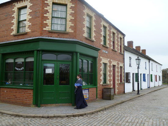 Ulster Folk & Transport Museum : General Store and row houses.