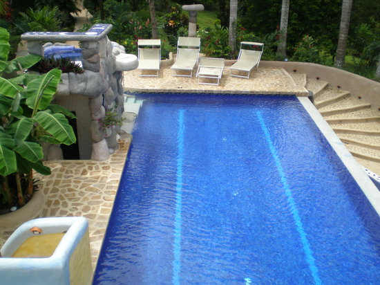 Kalapiti Luxury Jungle Suites: POOL VIEW FROM SOLARIUM