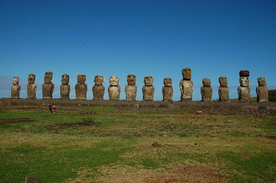 Kaimana Inn Hotel & Restaurant: Tongariki Huge Moai Platform