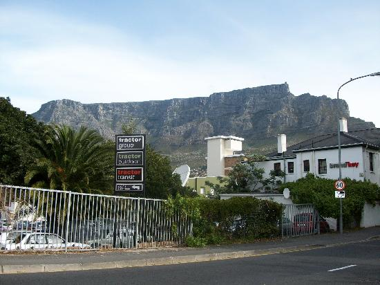 Zebra Crossing: Table Mountain view from entrance/exit.