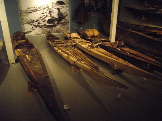 Greenland National Museum and Archives: kajaks for seal hunting