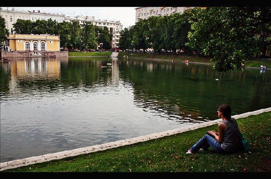 Patriarch's Pond: Pond in summer