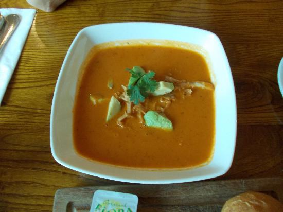 Premier Inn Dubai Investments Park Hotel: tomato avcado soup at the bedouinn's