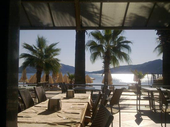 Emre Beach: view from dining area