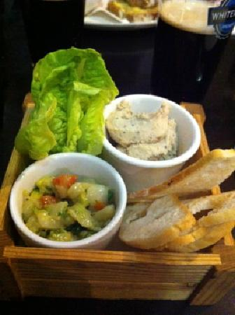 Mourne Seafood Bar: Starter (scallop ceviche & mackerel pate)