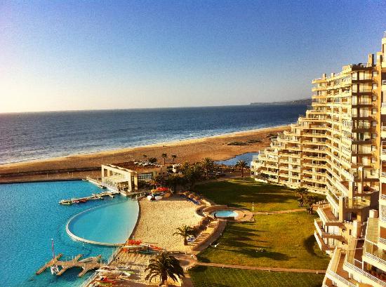 San Alfonso del Mar: vista al norte desde vela Norte piso 12