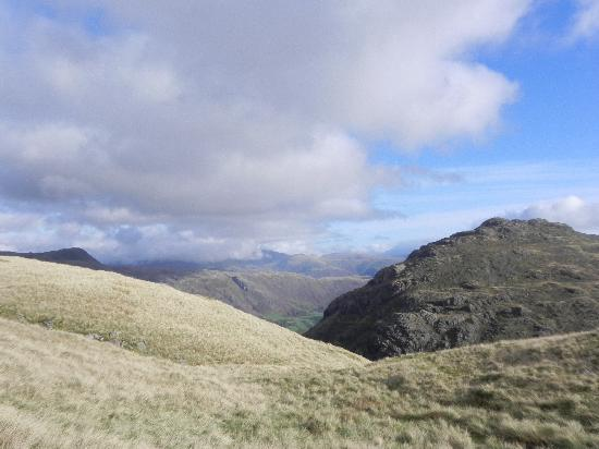 Bowfell and Crinkle Crags: View of crinkle crags from red tarn