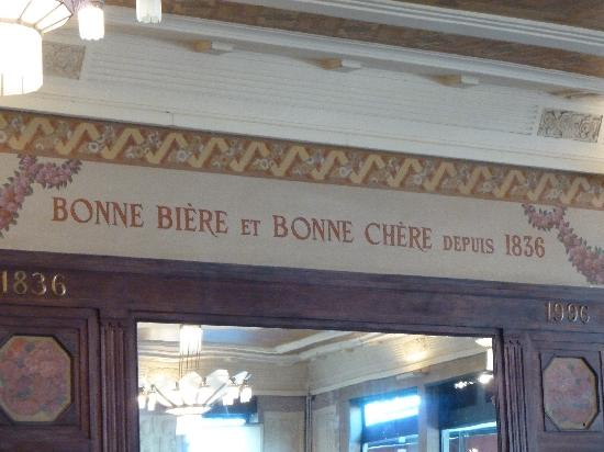 Brasserie Georges: inside the restaurant Good food and good beer since 1836