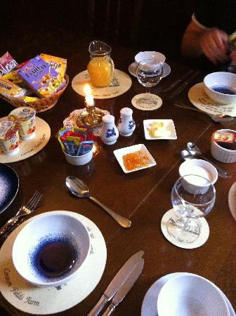 Corston Fields Farm : The beautiful breakfast provided..