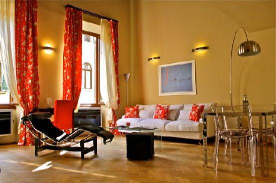 A Suite in Florence: Living Room Loft del Principe