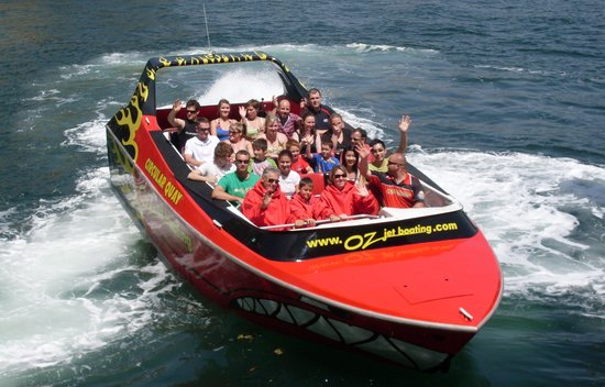 Oz Jet Boating Sydney Harbour: Hot & Sunny in Sydney ~ Great for a spin around the harbour