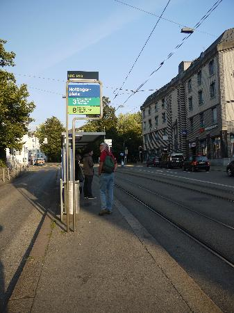 This is where you get off the Tram to get to Hotel Hottingen