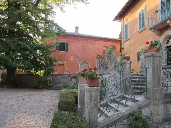 Montestigliano Farm Holidays in Tuscany: Casa Marta from across the square