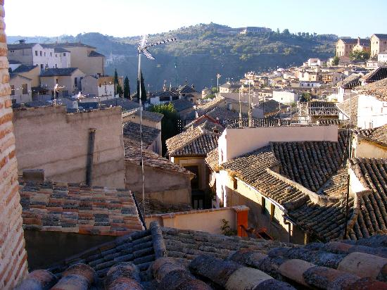 La Posada de Manolo: Toledo's ancient rooftops, from the posada's breakfast-room terrace