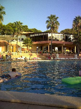 Sun Club Eldorado: Main Pool - Pool Bar, Upper Hall where entertainment shows are at night