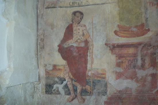 Chiesa di San Nicolo Inferiore: affresco di san rocco