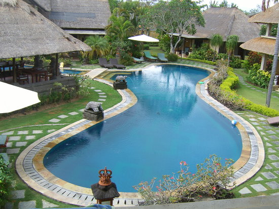 Rumah Bali : view from our upstairs room