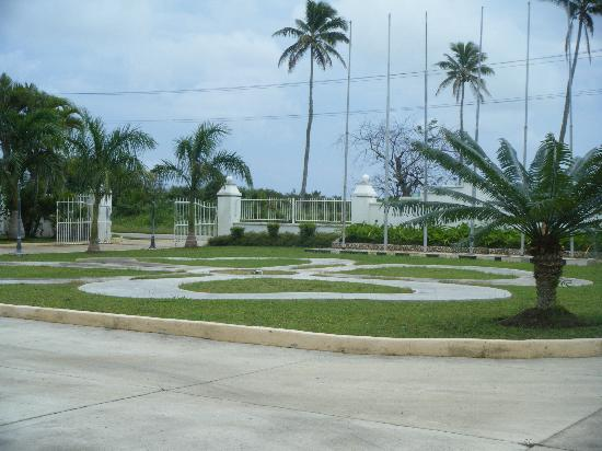 Scenic Hotel Tonga : front area has been given a spruce up