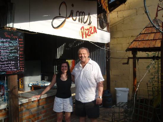Jim's Pizza : Michelle with Jim the owner