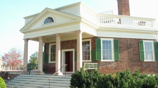 Thomas Jefferson's Poplar Forest: Front entrance to Poplar Forest house