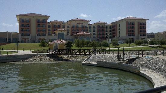Hilton Dallas / Rockwall Lakefront: View from the rear of the Hotel