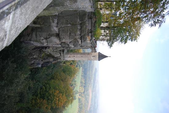 Koenigstein, Duitsland: Konigstein wall above the Elbe